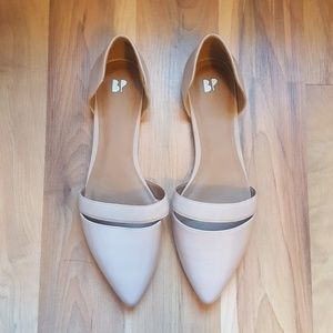BP. 'Lovee' Banded Flat Nude Blush Patent Leather